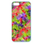 Colorful Mosaic Apple Seamless iPhone 5 Case (Color) Front