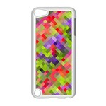 Colorful Mosaic Apple iPod Touch 5 Case (White) Front