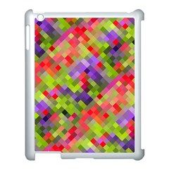 Colorful Mosaic Apple Ipad 3/4 Case (white) by DanaeStudio