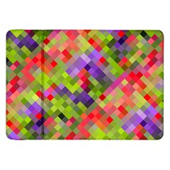 Colorful Mosaic Samsung Galaxy Tab 8 9  P7300 Flip Case by DanaeStudio