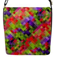 Colorful Mosaic Flap Messenger Bag (s)