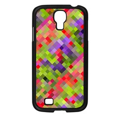 Colorful Mosaic Samsung Galaxy S4 I9500/ I9505 Case (black) by DanaeStudio