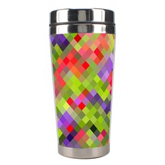 Colorful Mosaic Stainless Steel Travel Tumblers by DanaeStudio