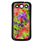 Colorful Mosaic Samsung Galaxy S3 Back Case (Black) Front