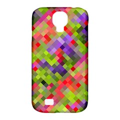 Colorful Mosaic Samsung Galaxy S4 Classic Hardshell Case (pc+silicone) by DanaeStudio