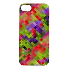 Colorful Mosaic Apple Iphone 5s/ Se Hardshell Case by DanaeStudio