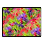 Colorful Mosaic Double Sided Fleece Blanket (Small)  45 x34 Blanket Back
