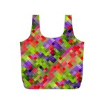 Colorful Mosaic Full Print Recycle Bags (S)  Back