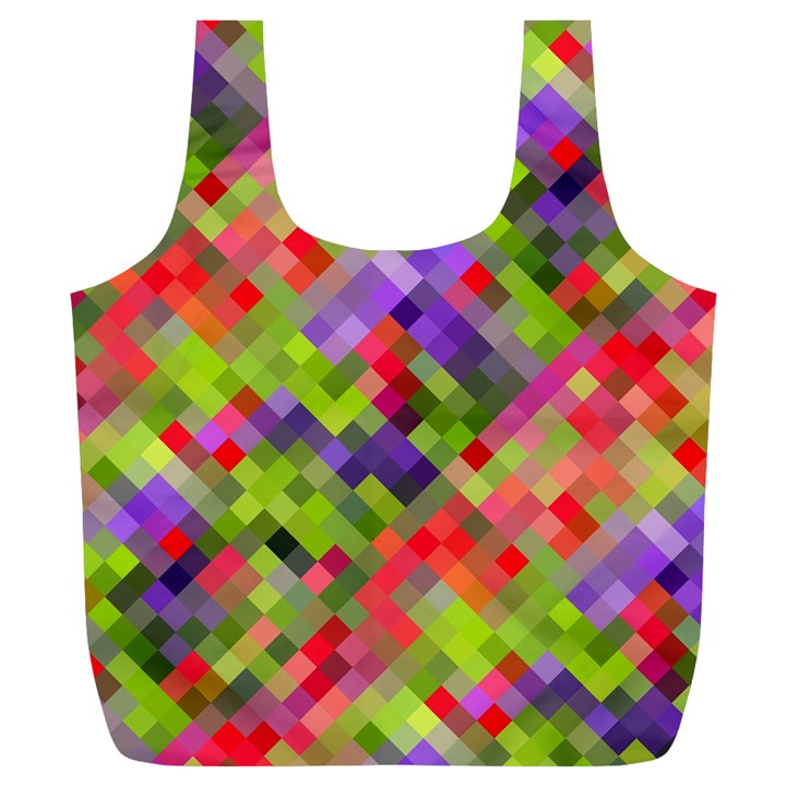 Colorful Mosaic Full Print Recycle Bags (L)