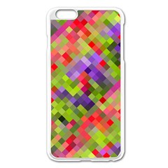 Colorful Mosaic Apple Iphone 6 Plus/6s Plus Enamel White Case by DanaeStudio