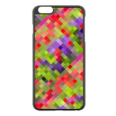 Colorful Mosaic Apple Iphone 6 Plus/6s Plus Black Enamel Case