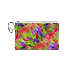 Colorful Mosaic Canvas Cosmetic Bag (s) by DanaeStudio