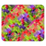 Colorful Mosaic Double Sided Flano Blanket (Small)  50 x40 Blanket Front