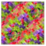 Colorful Mosaic Large Satin Scarf (Square) Front