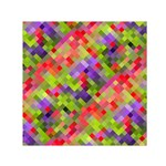 Colorful Mosaic Small Satin Scarf (Square)  Front
