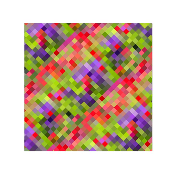 Colorful Mosaic Small Satin Scarf (Square)