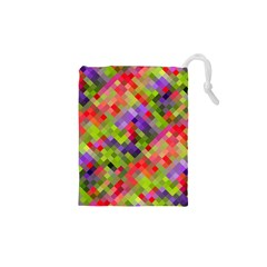 Colorful Mosaic Drawstring Pouches (xs)  by DanaeStudio