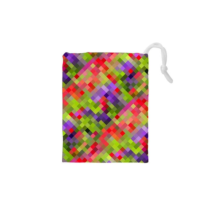Colorful Mosaic Drawstring Pouches (XS)