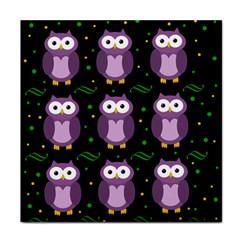 Halloween purple owls pattern Tile Coasters