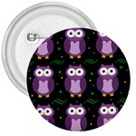 Halloween purple owls pattern 3  Buttons