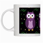 Halloween purple owls pattern White Mugs