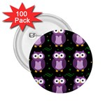 Halloween purple owls pattern 2.25  Buttons (100 pack)