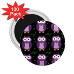 Halloween purple owls pattern 2.25  Magnets (100 pack)