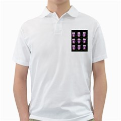 Halloween Purple Owls Pattern Golf Shirts