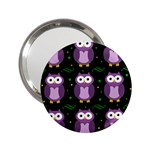 Halloween purple owls pattern 2.25  Handbag Mirrors