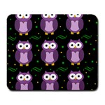 Halloween purple owls pattern Large Mousepads Front