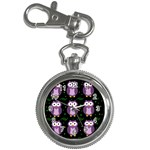 Halloween purple owls pattern Key Chain Watches