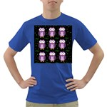 Halloween purple owls pattern Dark T-Shirt