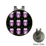 Halloween purple owls pattern Hat Clips with Golf Markers