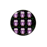 Halloween purple owls pattern Hat Clip Ball Marker Front
