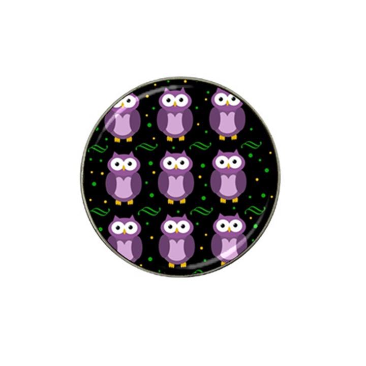 Halloween purple owls pattern Hat Clip Ball Marker (10 pack)