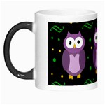 Halloween purple owls pattern Morph Mugs