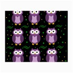Halloween purple owls pattern Small Glasses Cloth