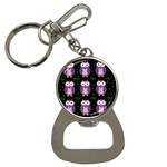 Halloween purple owls pattern Bottle Opener Key Chains
