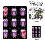 Halloween purple owls pattern Playing Cards 54 Designs  Front - Heart10