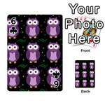 Halloween purple owls pattern Playing Cards 54 Designs  Front - Club6