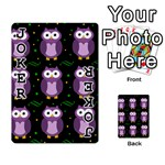 Halloween purple owls pattern Playing Cards 54 Designs  Front - Joker1
