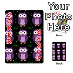 Halloween purple owls pattern Playing Cards 54 Designs  Front - Joker2