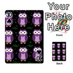 Halloween purple owls pattern Playing Cards 54 Designs  Front - Spade10