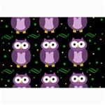 Halloween purple owls pattern Collage Prints 18 x12 Print - 2