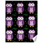 Halloween purple owls pattern Canvas 12  x 16