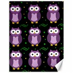 Halloween purple owls pattern Canvas 18  x 24