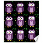 Halloween purple owls pattern Canvas 20  x 24