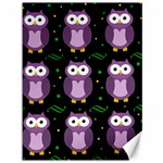 Halloween purple owls pattern Canvas 36  x 48
