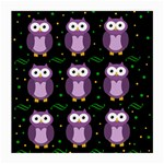 Halloween purple owls pattern Medium Glasses Cloth