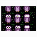 Halloween purple owls pattern Large Glasses Cloth